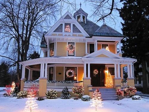Christmas Christmas Decoration Christmas Tree Cute House Lights